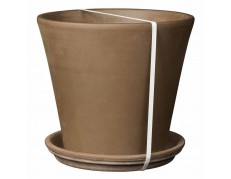 KIT MACETA VASO CONO + PLATO CHOCOLATE