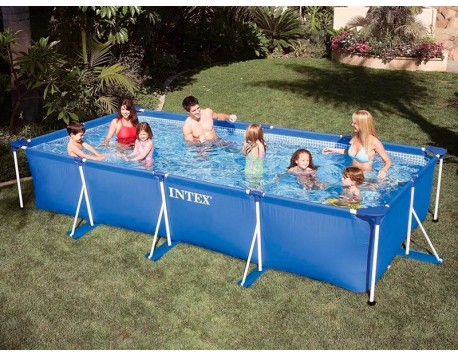 PISCINA DESMUNTABLE RECTANGULAR INTEX SMALL FRAME