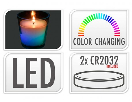 VELA LED CANVI DE COLOR