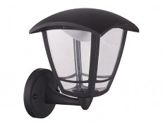 APLIQUE EXTERIOR ASCENDENTE LED COACH NEGRO