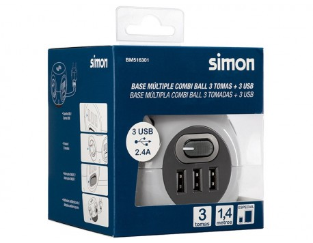 BASE COMBI BALL 3 PRESES+3USB