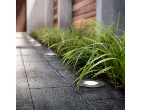 FOCO EMPOTRABLE EXTERIOR LED PHILIPS MOSS INOX