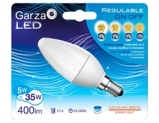 BOMBILLA LED VELA ON/OFF REGULABLE GARZA