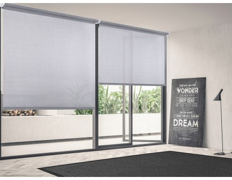 ESTOR ROLL-UP SCREEN GRIS