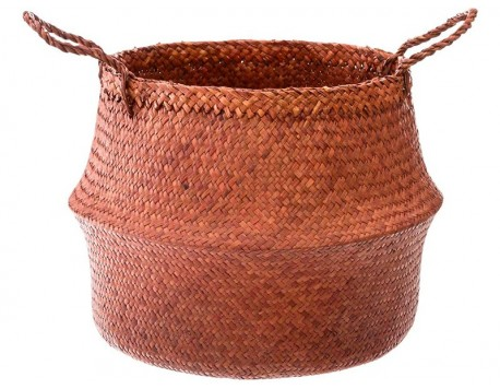 CESTA SEAGRASS TERRACOTA
