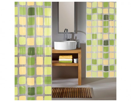 CORTINA BAÑO SONNY LIGHT VERDE