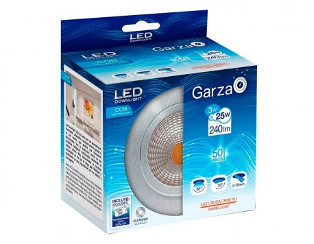 FOCUS EMPOTRABLE LED GARZA COB ALUMINI 60º