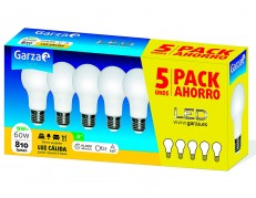 PACK 5 BOMBILLAS LED ESTÁNDAR GARZA