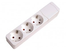 BASE 3 PRESES S/CABLE BLANC